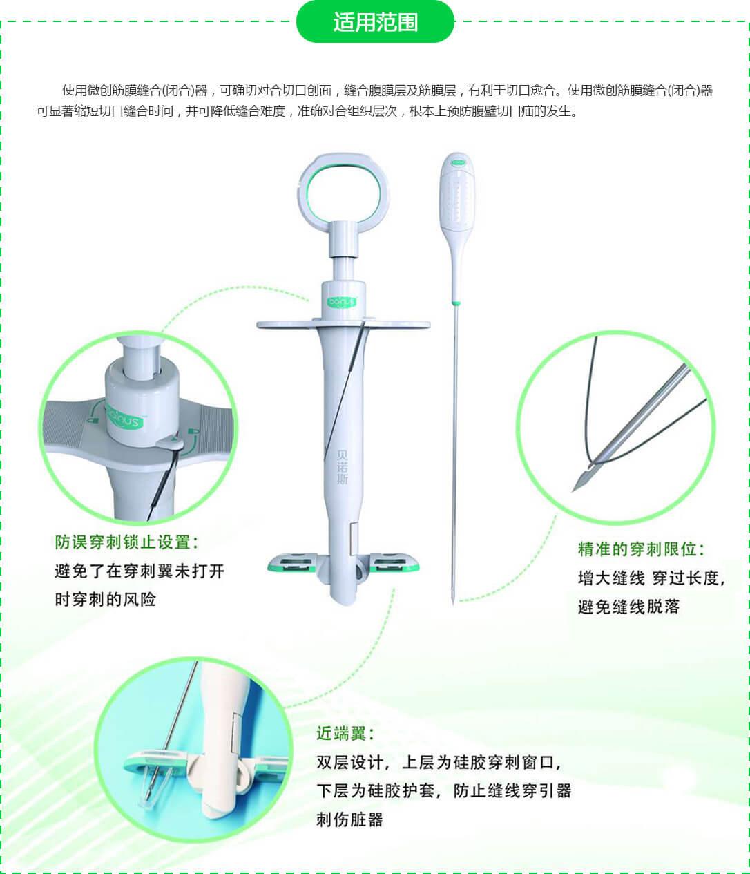 微創筋膜縫合(閉合)器適用范圍