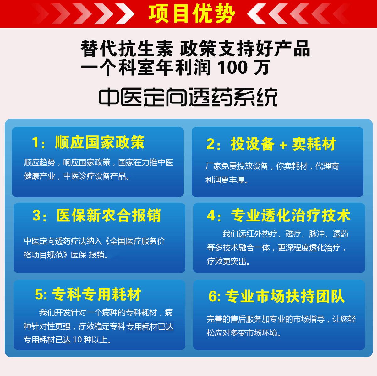 中医定向透药治疗仪-项目优势